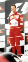 Race winner Schumacher